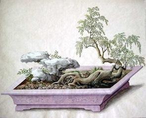 Miniaturlandschaft aus dem Gothaer Penjing Album