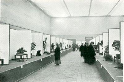 Auf der zweiten Kokufu-Bonsaiausstellung im Dezember 1934